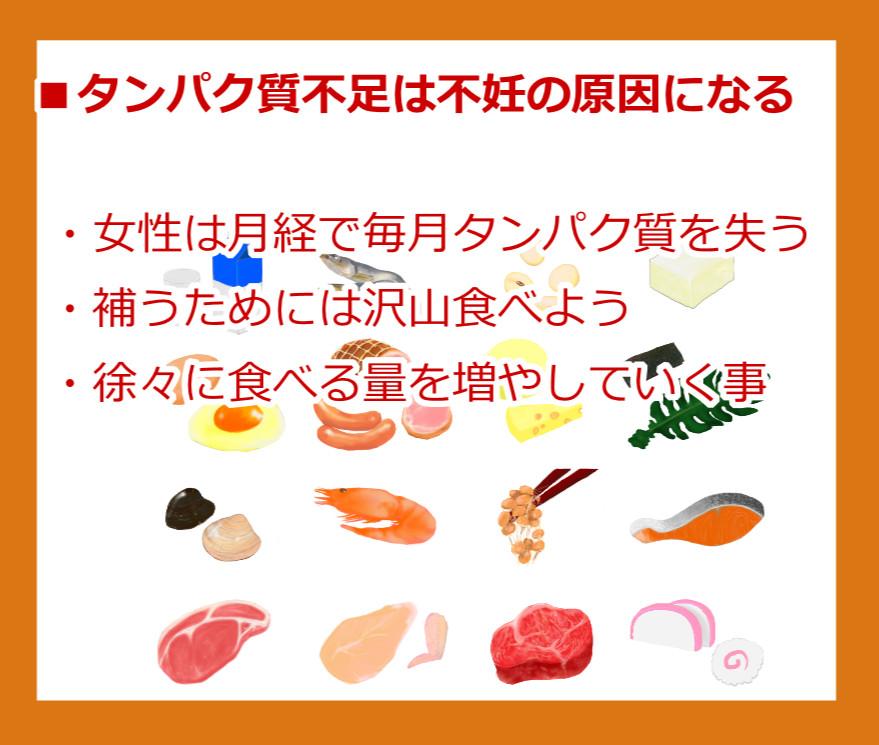 タンパク質不足は不妊の原因